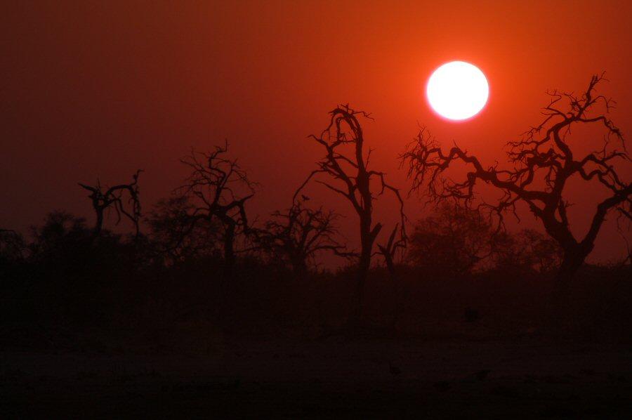 Botswana - ExplorationVacation - 2005-09-22_11-09-58 sunset at waterhole