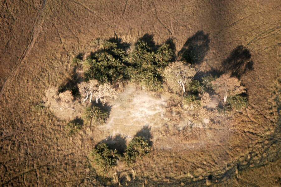 Botswana Okavango - ExplorationVacation - 09-19 aerial2 of island