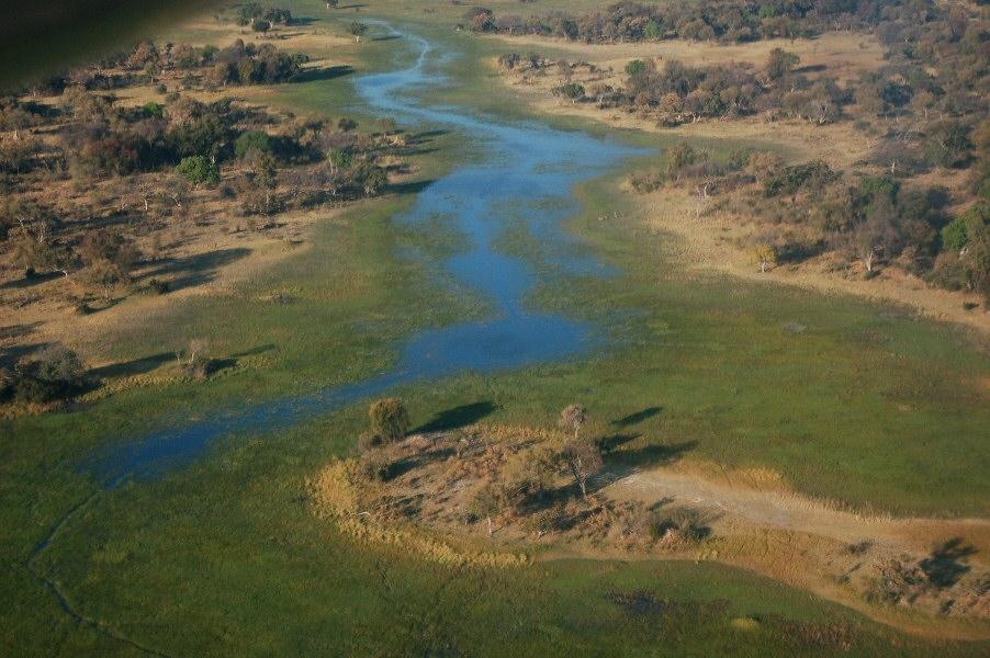 Botswana Okavango - ExplorationVacation - 09-19 aerial4