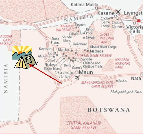 to Tsodilo map Botswana - ExplorationVacation