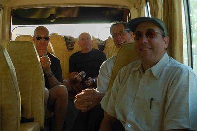 passengers in a minibus