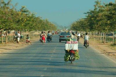traffic in Cambodia