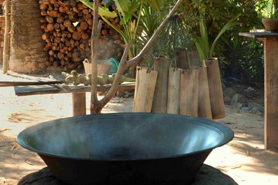 boiling palm sugar