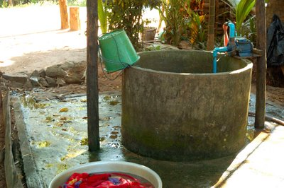 Cambodian village well