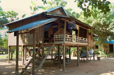 house in a rural Cambodian village