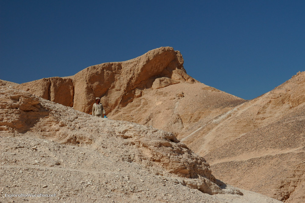 mountains above the tombs