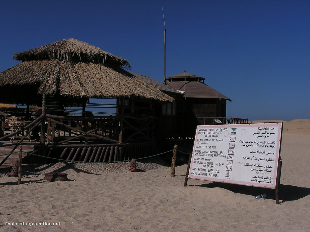 Sign on beach