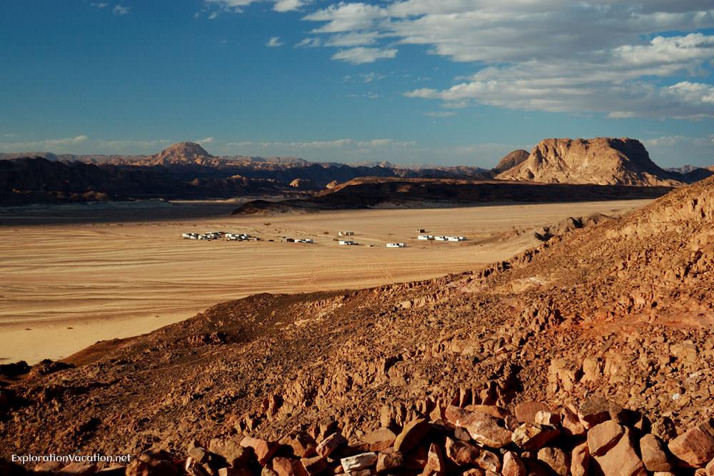 Bedouin Village in distance