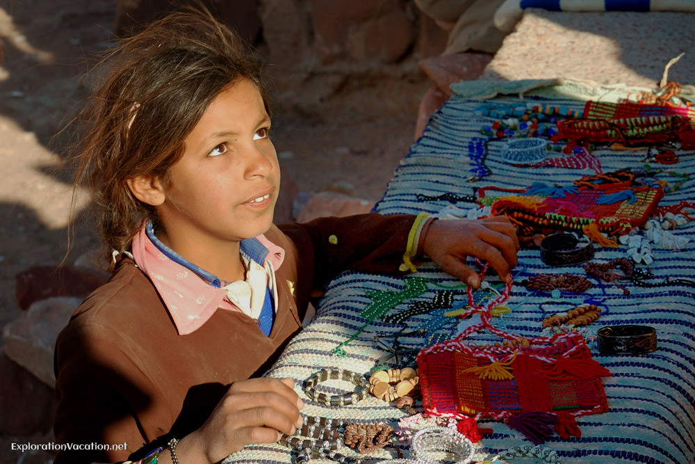 Child selling crafts