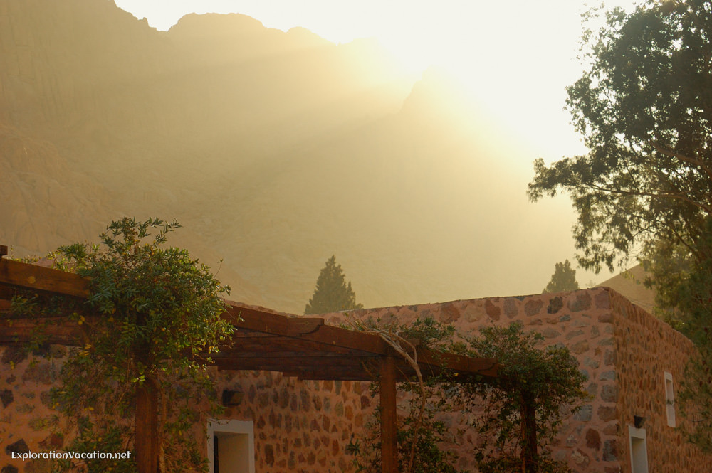 dawn over the monastery