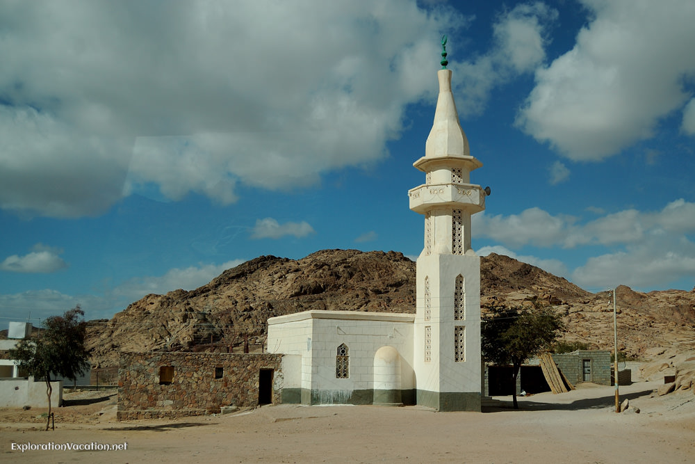 small white mosque