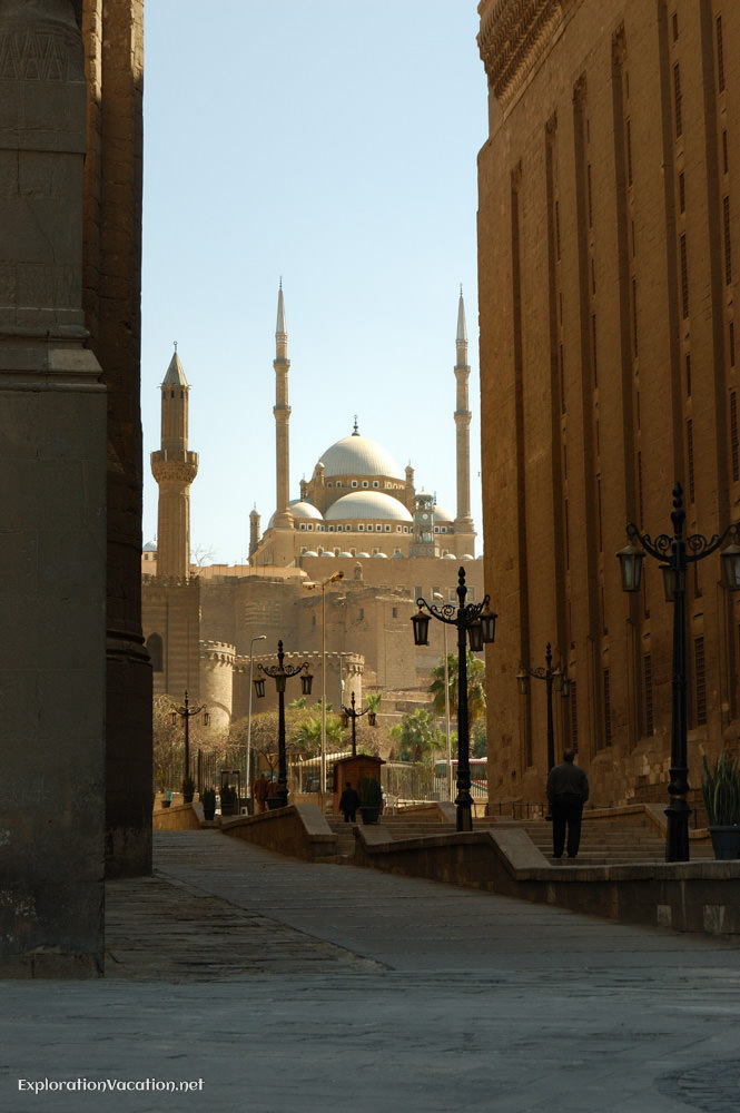 mosque with domes and minarets