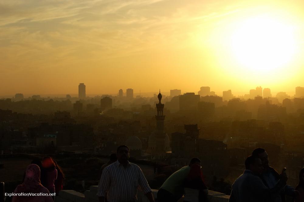 sunset Al Azhar Park Cairo