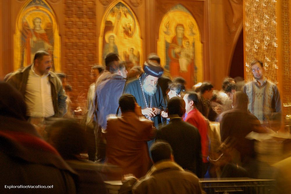 Coptic pope offering blessings