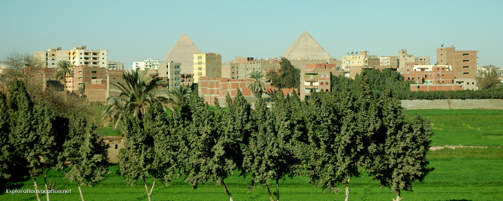 pyramids rise over the development