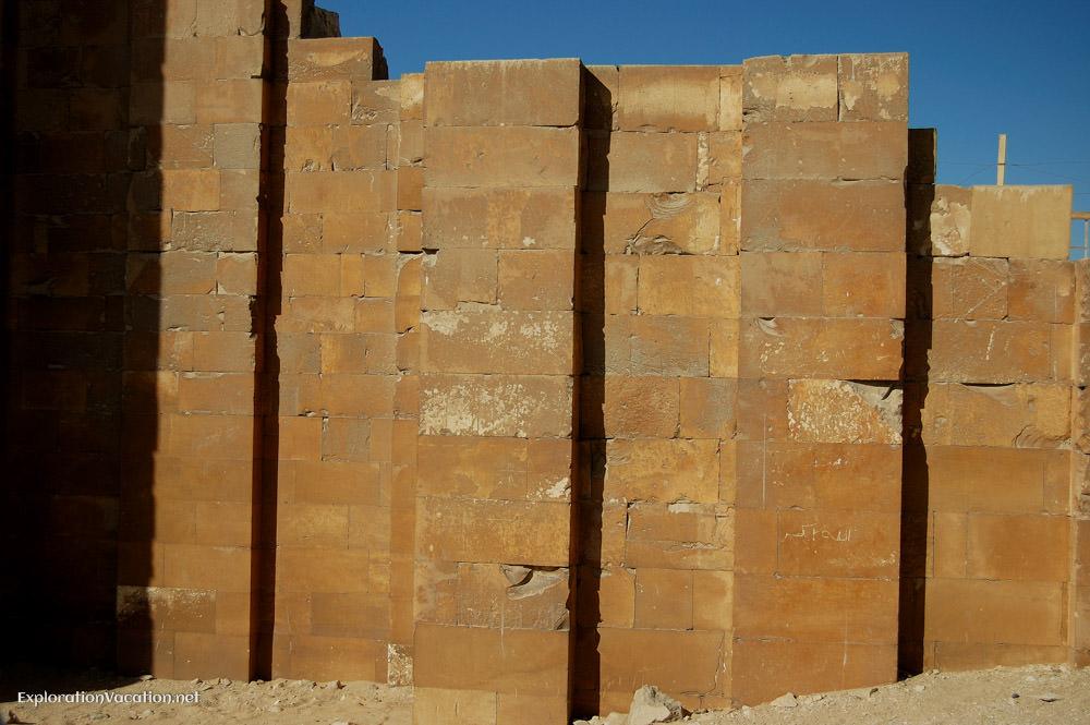Reconstructed wall at Sakkara