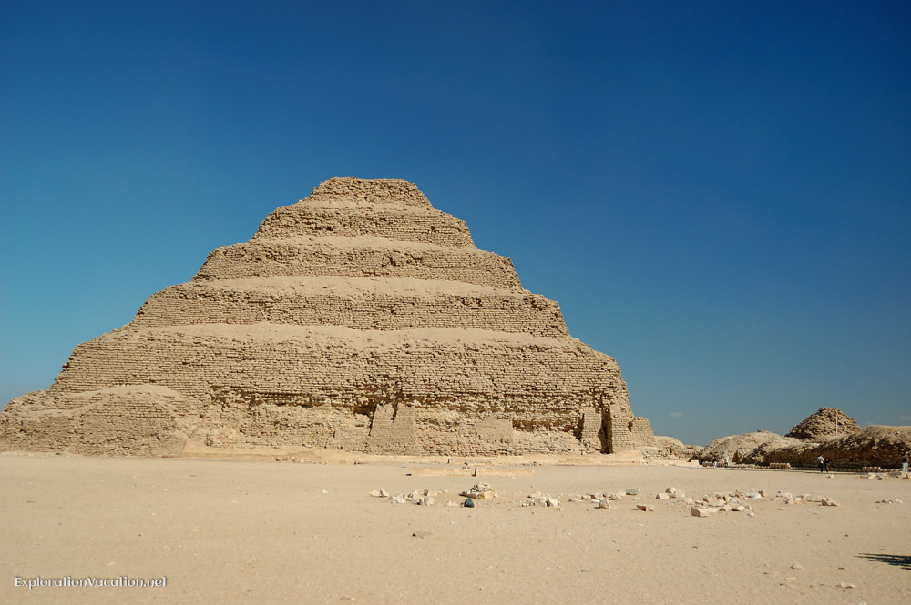 exterior of the step pyramid of Djoser