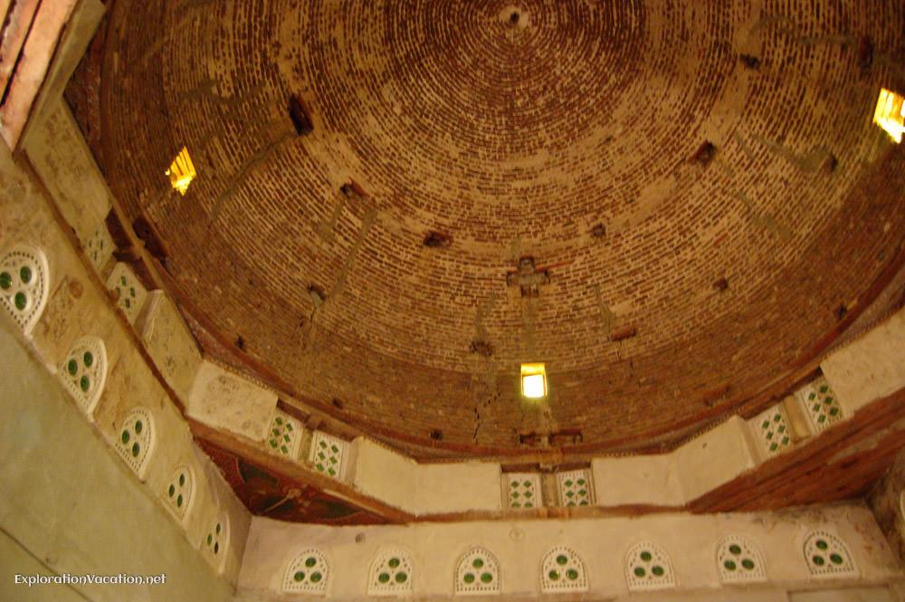 interior of church dome