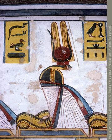 painting on the wall of a tomb