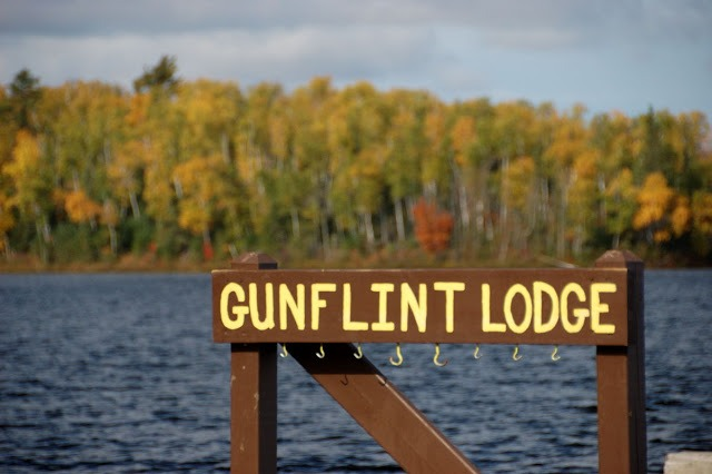 Gunflint lodge sign
