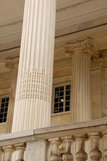 detail of marble pilar