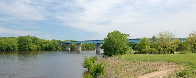 bridge crossing over the river