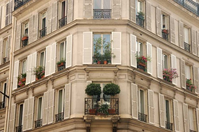 Paris apartment building
