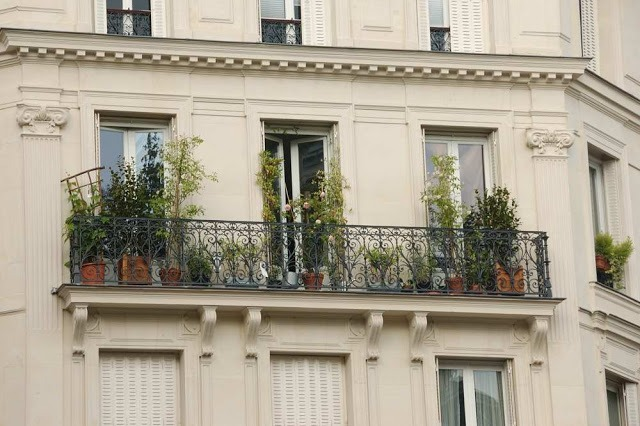 balcony in Paris with plants