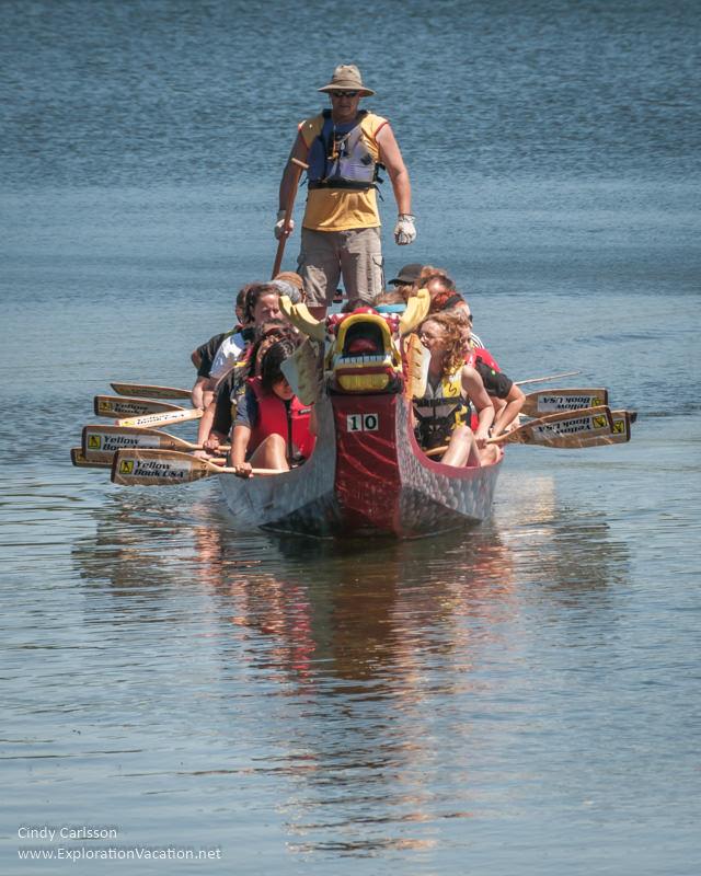 St Paul Minnesota dragon boat races - www.ExplorationVacation.net