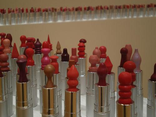 tubes of lipstick as art