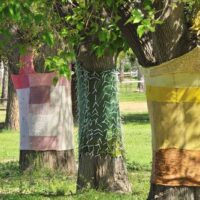 yarn wrapped tress