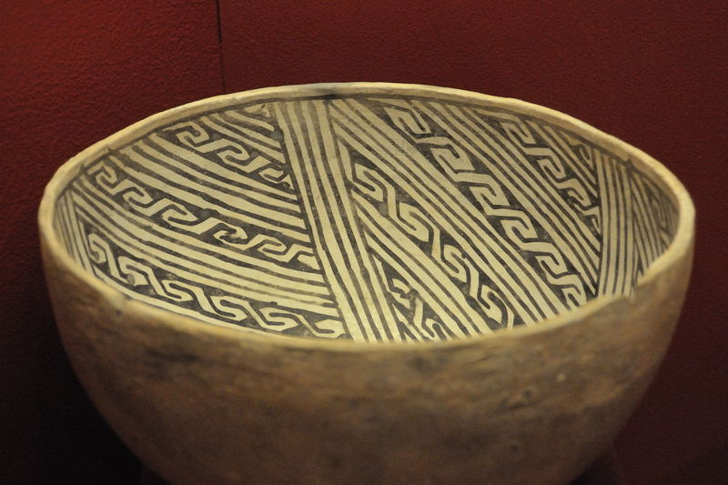 clay bowl with decorations