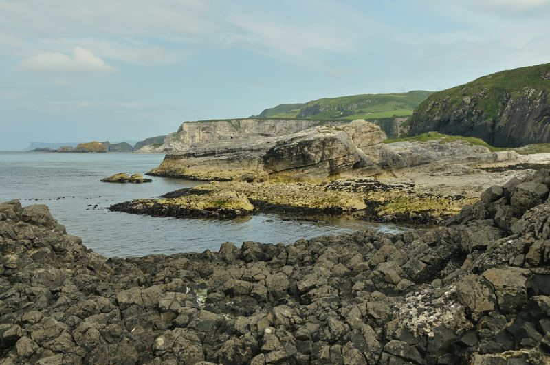 rocky shores and cliffs