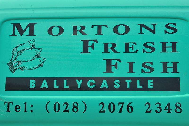 Morton's Fresh Fish sign