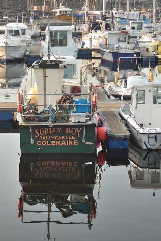 boat Coleraine in Ballycastle harbor