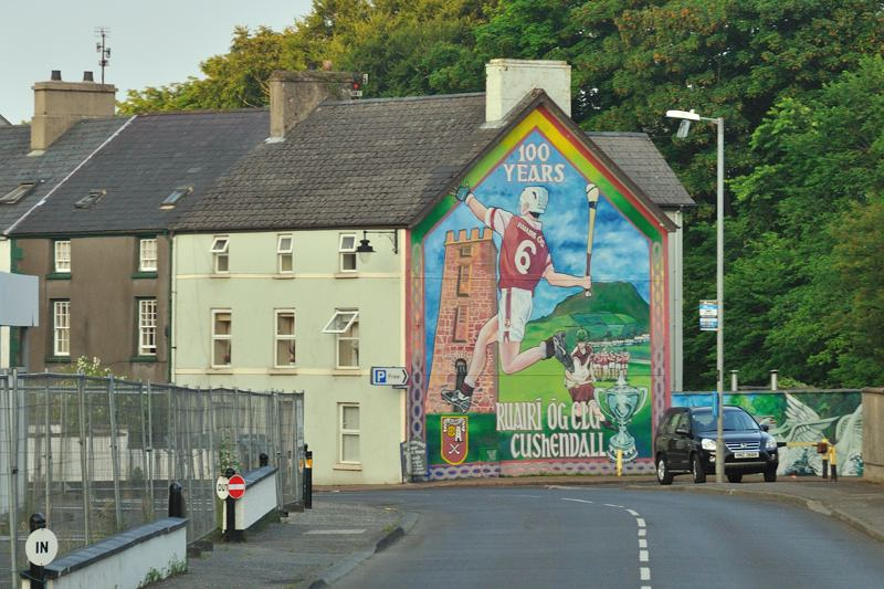mural along the road in Northern Ireland