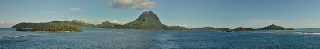 panorama of Bora Bora