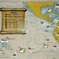 Map of Tahiti to Flordia cruise