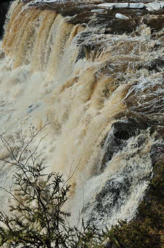 close up of Gooseberry Falls