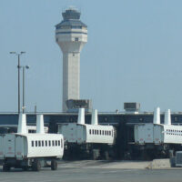 mobile lounges at Dulles airport