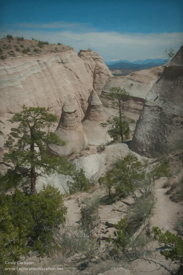View from above at Tent Rocks