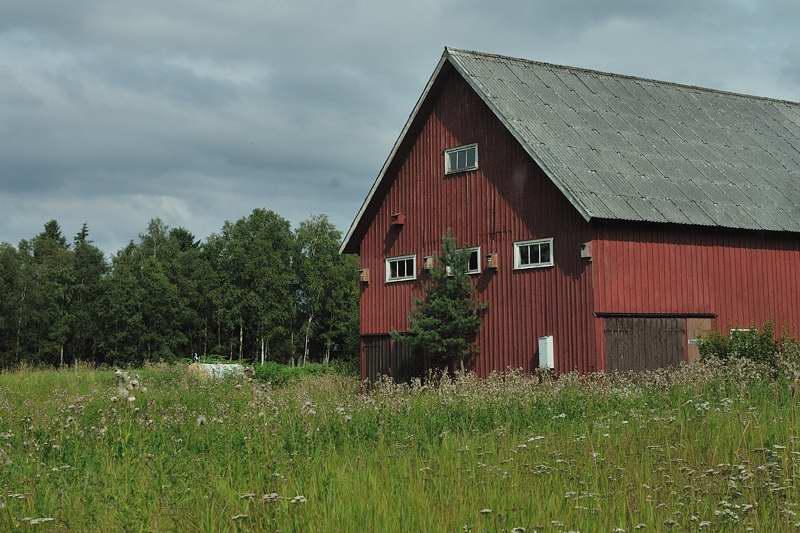 Barn at Timmerkullen farm in rural Sweden - ExplorationVacation