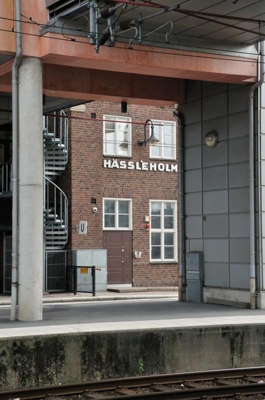 train station stop at Hassleholm
