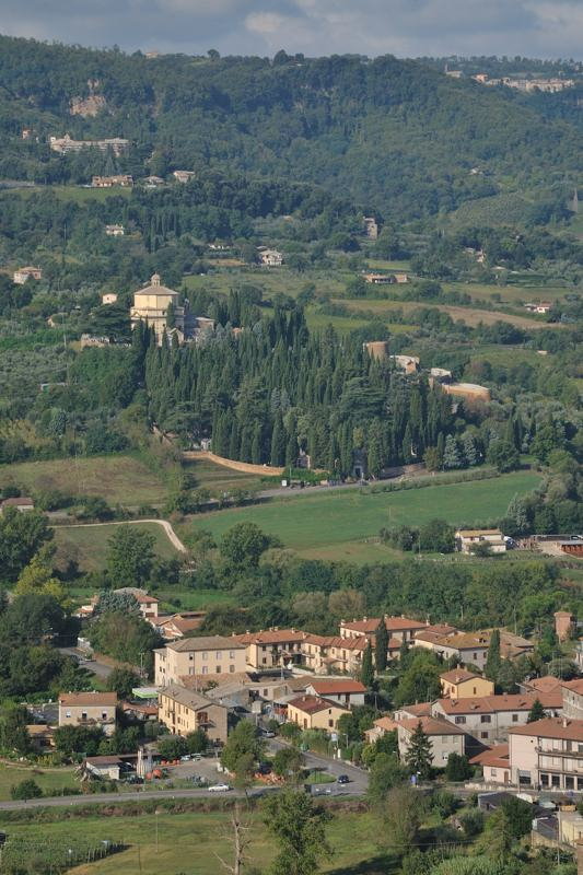 countryside around Orvieto from above