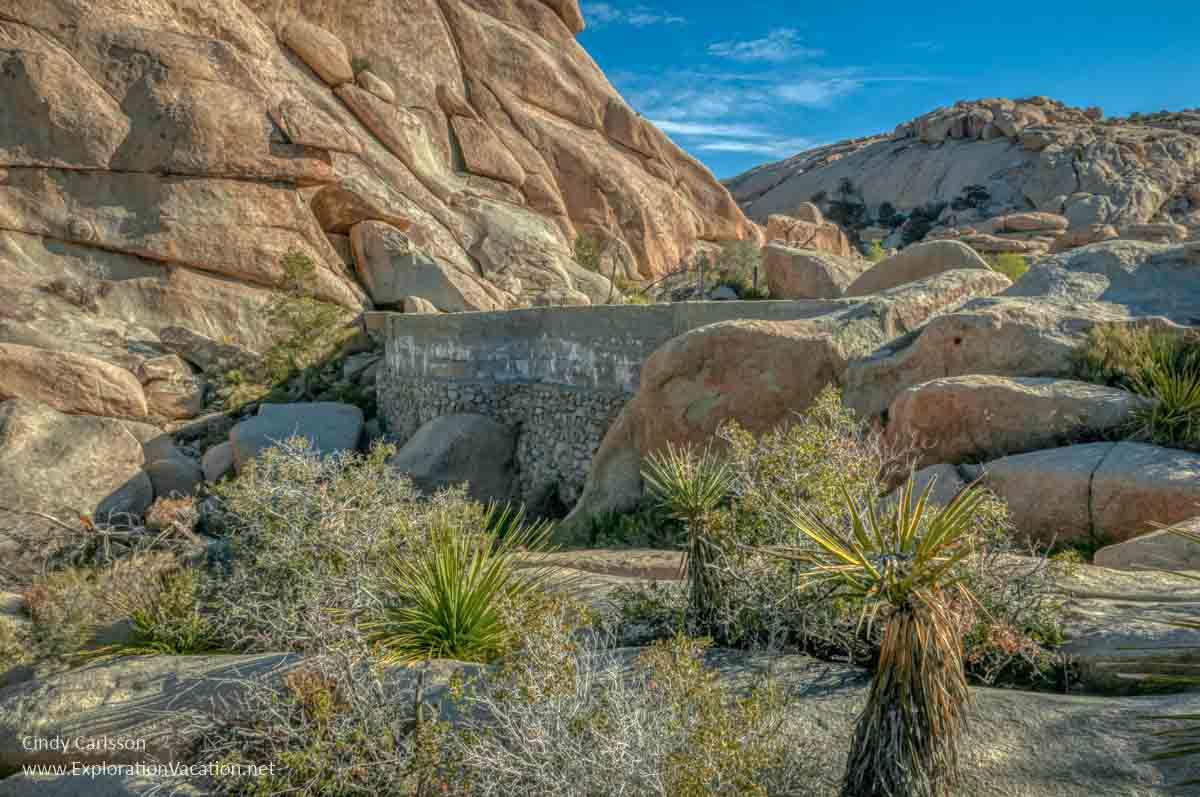 dam set between rock