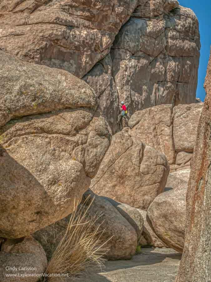 rock climbers in Hidden Valley