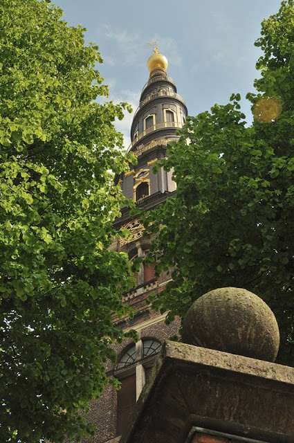 Towering steeple on Vor Frelsers Kirke (Our Savior's Church) in Copenhagen, Denmark - ExplorationVacation.net 2-DSC_2036