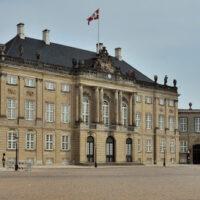 Amalienborg Slot is a royal palace complex in the heart of Copenhagen, Denmark - ExplorationVacation.net