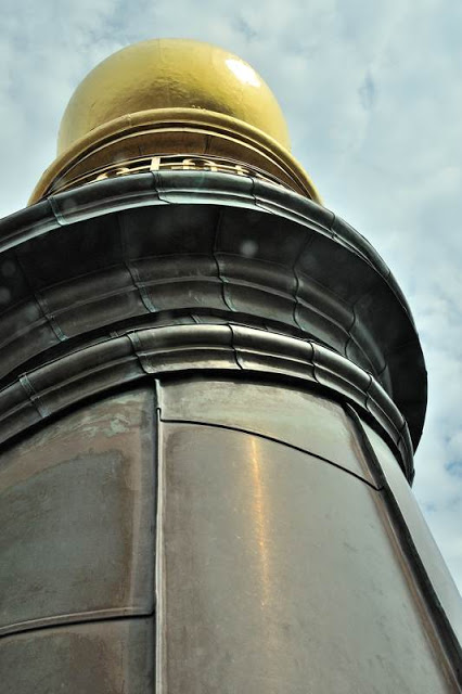 Very top of the steeple on Vor Frelsers Kirke (Our Savior's Church) in Copenhagen, Denmark - ExplorationVacation.net 24-DSC_2059