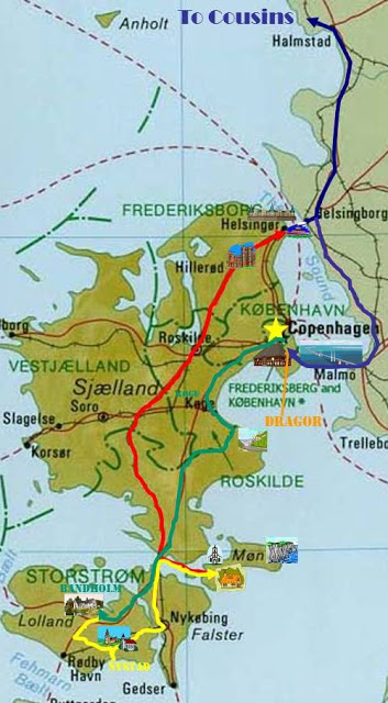 Map of Copenhagen spring itinerary - ExplorationVacation.net
